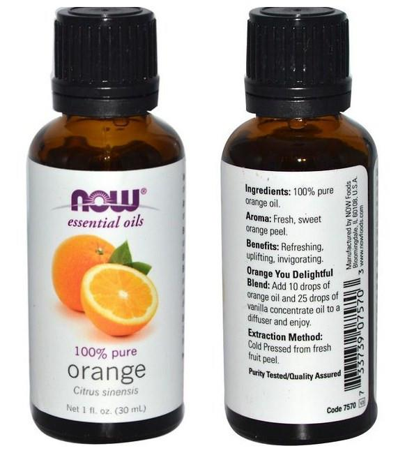 Now Foods, 100% Pure Orange Essential Oil (30 ml)