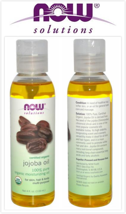 Now Foods, Certified Organic, Pure Jojoba Oil (118 ml)