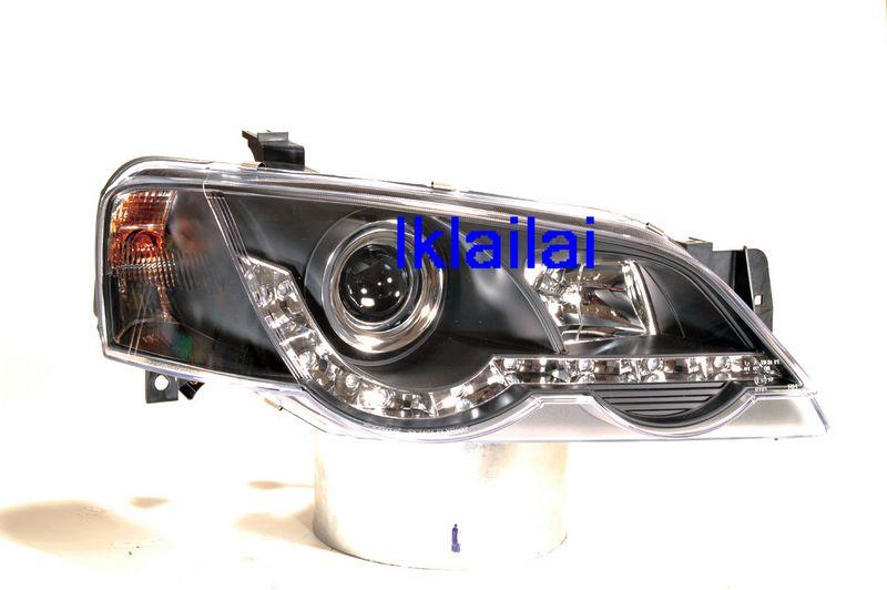 Ford Falcon XR6 '02 Projector Head Lamp Black [R8 DRL Look]