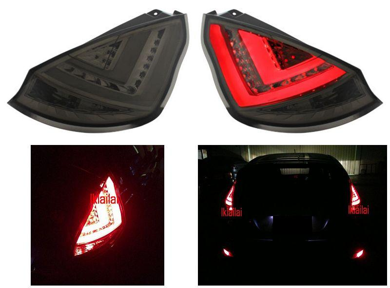 Ford Fiesta 09 Full Light Bar LED Tail Lamp Smoke