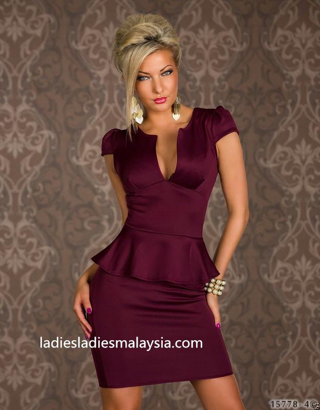 Formal stretchable straight A cut tight dress