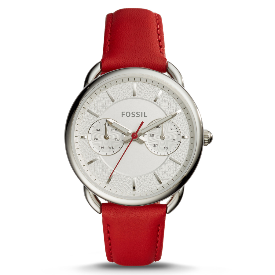Fossil ES4122 Women's Tailor Multifunction Red Leather Watch
