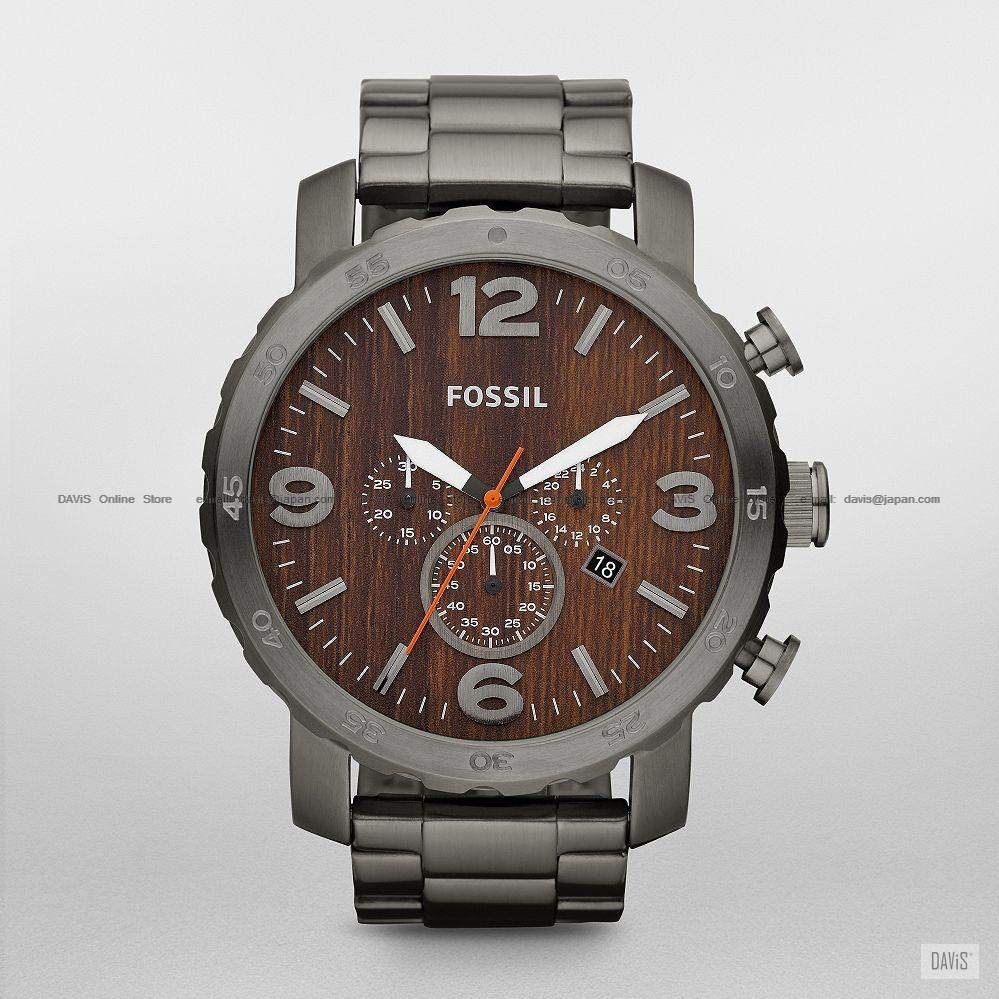 fossil jr1355 men s nate watch chro end 6 22 2018 12 40 am fossil jr1355 men s nate watch chrono oversized ss bracelet grey wood