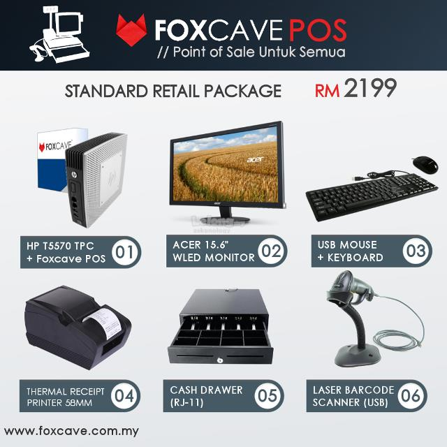 Foxcave POS System Malaysia Cashier GST Retail Package