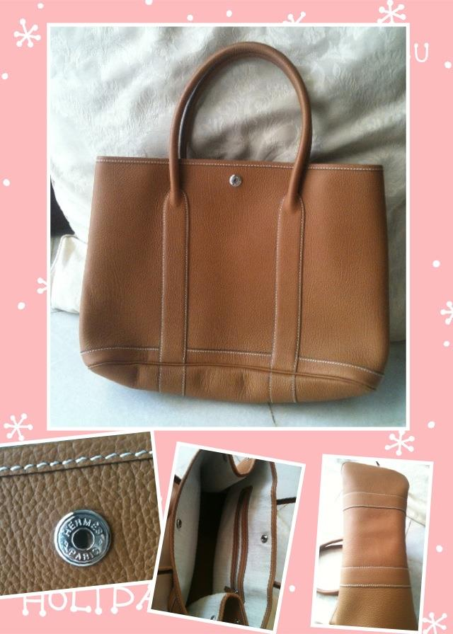 Free Poslaju - 95% New Brown Leather Tote Bag