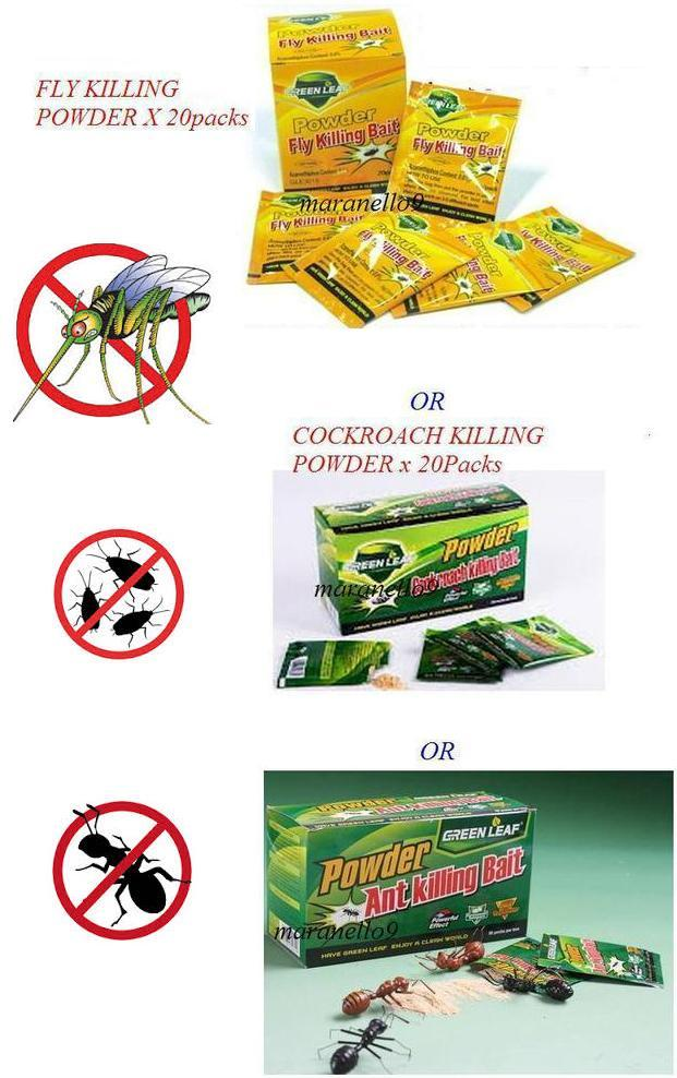 Free Ship! Choose From Fly,Cockroach,Ants Killing Bait x20 packs.Grab