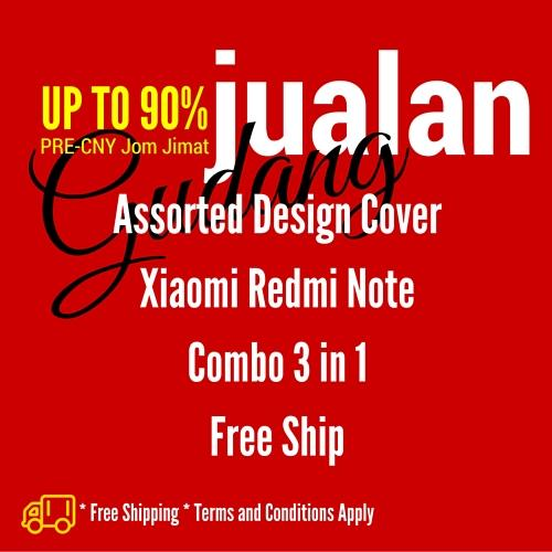 [Free Ship] *Combo 3 in 1* Assorted Xiaomi Redmi *Note 1* Flip Cover