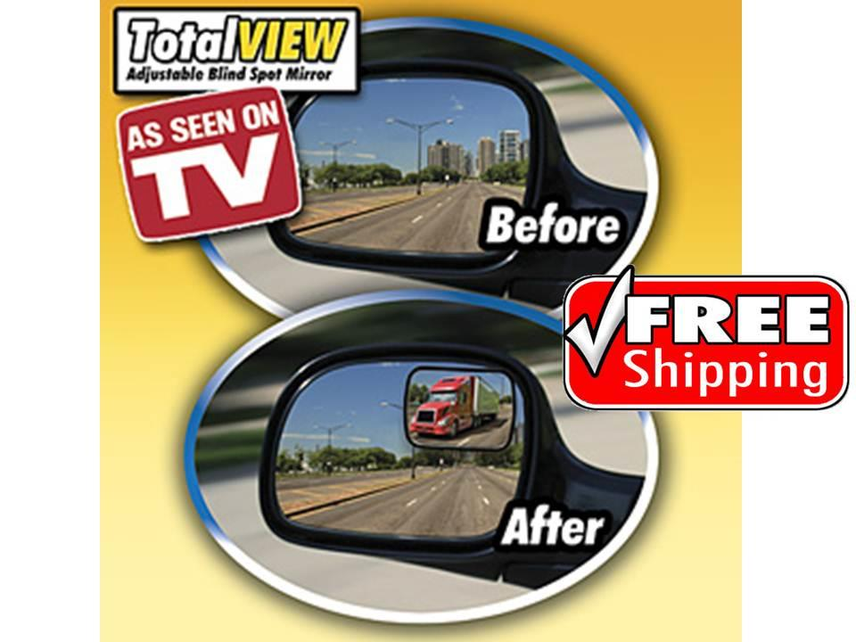 FREE SHIPPING Total View 360 Degree Adjustable Blind Spot Mirror