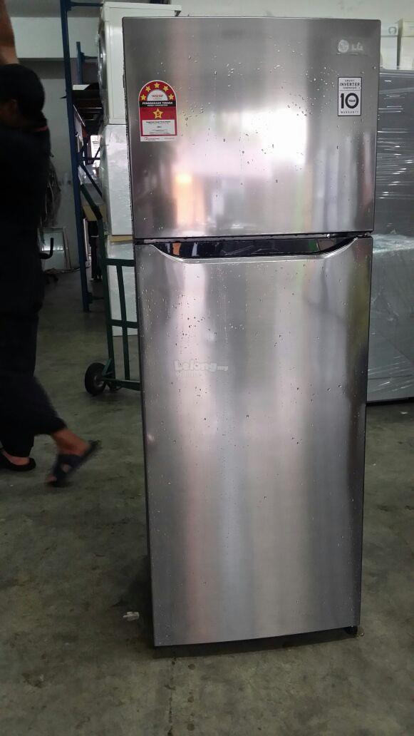 Fridge LG Refrigerator 2 Doors Freezer Peti Sejuk Ais Ice Refurbish