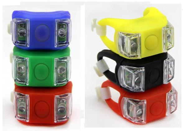 Frog Type LED Silicone Bicycle Tail Light / Rear Lamp Accessories