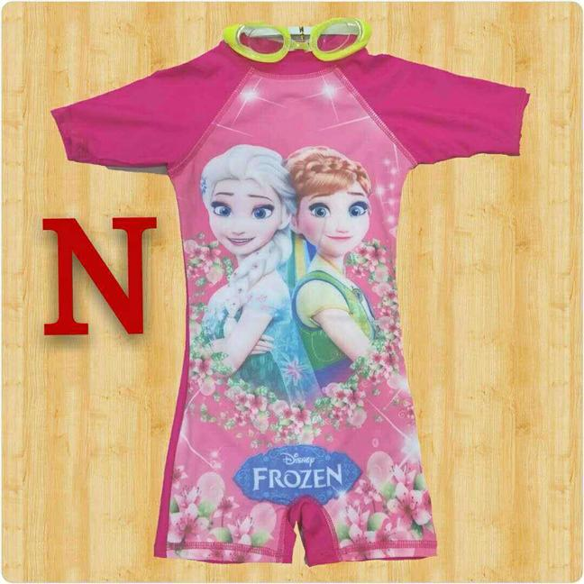 FROZEN (PINK) SWIMMING SUIT WITH FREE SWIMMING GLASSES