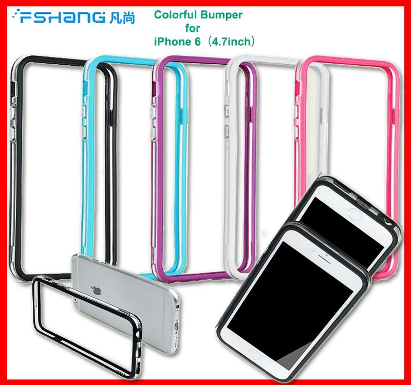 Fshang Colorful Bumper PC+TPU Case for iPhone 6