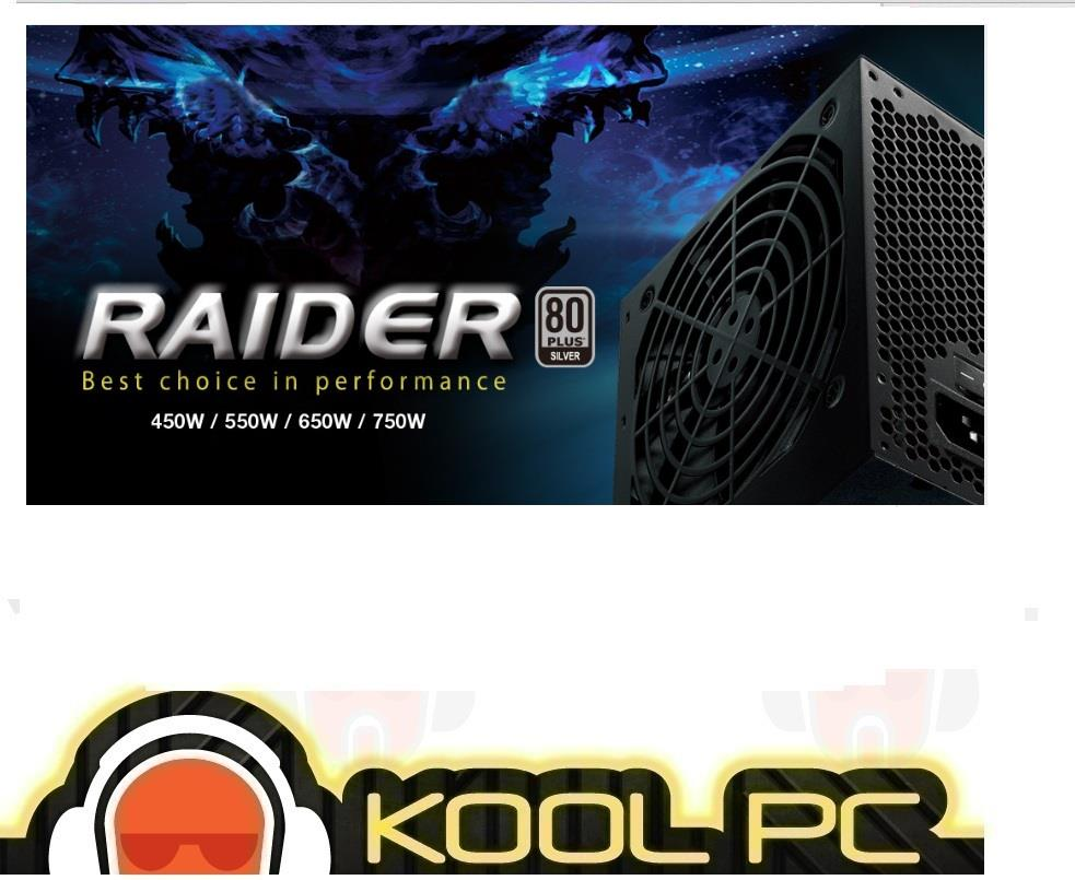 FSP RAIDER 650W 80 Plus SILVER Power Supply