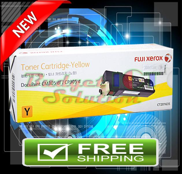 Fuji Xerox CP305D CM305D CM305DF CT201635 305 YELLOW ORIGINAL TONER