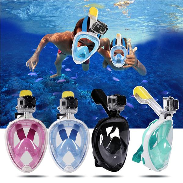 Full Face Snorkel Face Snorkel Mask w/ Easy Breath ~ Fast Shipping