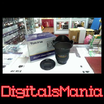 Full Frame Tokina AT-X 17-35mm f4 FX Lens + UV Filter - Canon EOS