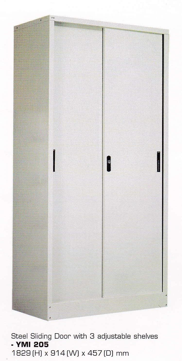 Full Height Cupboard with Steel Sliding Door
