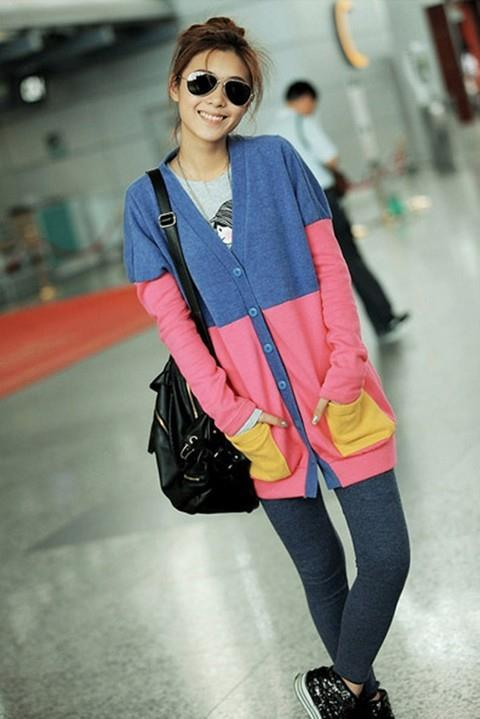 **Fundeal** Korea Color Loosy Cotton Jacket
