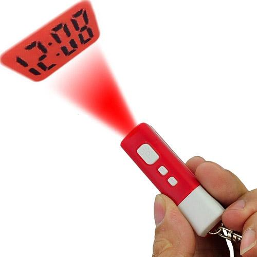 Funny and New Mini LCD Projection Clock with Pocket Size- Color Random