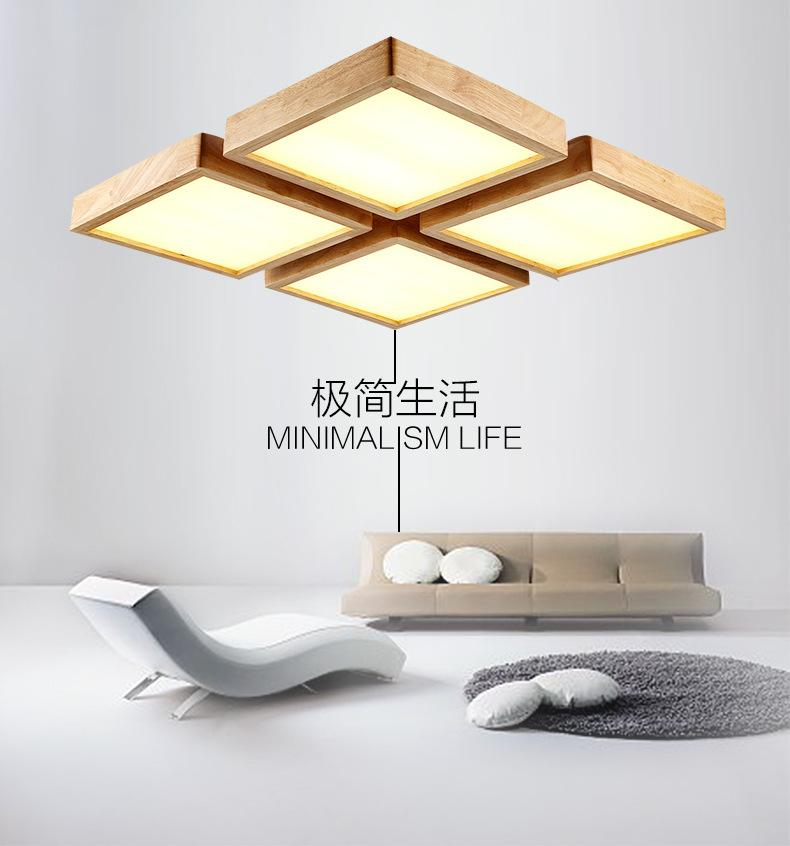 All furniture -  LED Japanese wooden celing dimming lamp