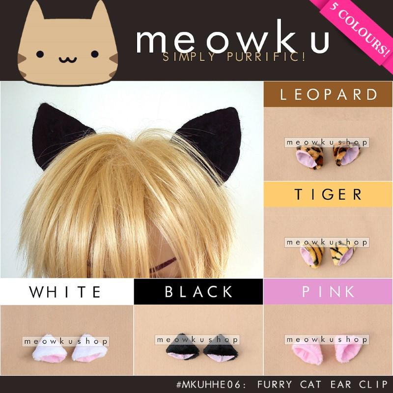 Furry Cat Ear Hair Clip (Woman Girls Cosplay Costume Gift Cute Kucing)