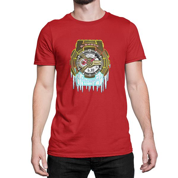 G -Shock The Frozen Custom Design Cotton Men's T-Shirt