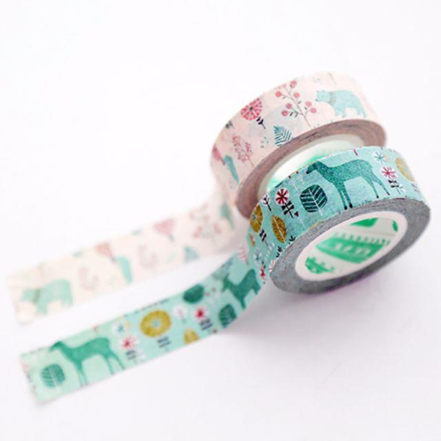 Garden Floral Nature Washi Tape
