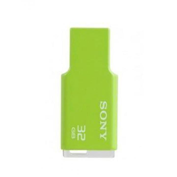 GDT. SONY FLASH DRIVE MIRCO VAULT TINY 32GB USM32GM/GC GREEN