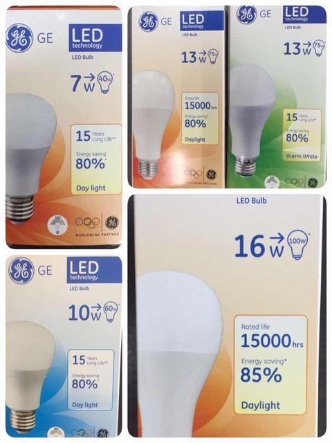 GE LED BULB E27 PLCE ES ENERGY SAVE 7W10W13W16W- SALE -WARRANTY 1 YEAR