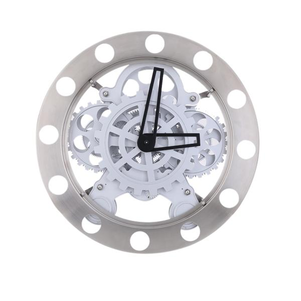 Gear Clock Dynamic Hollow Wall Clock Mechanical Appearance Metal Quart