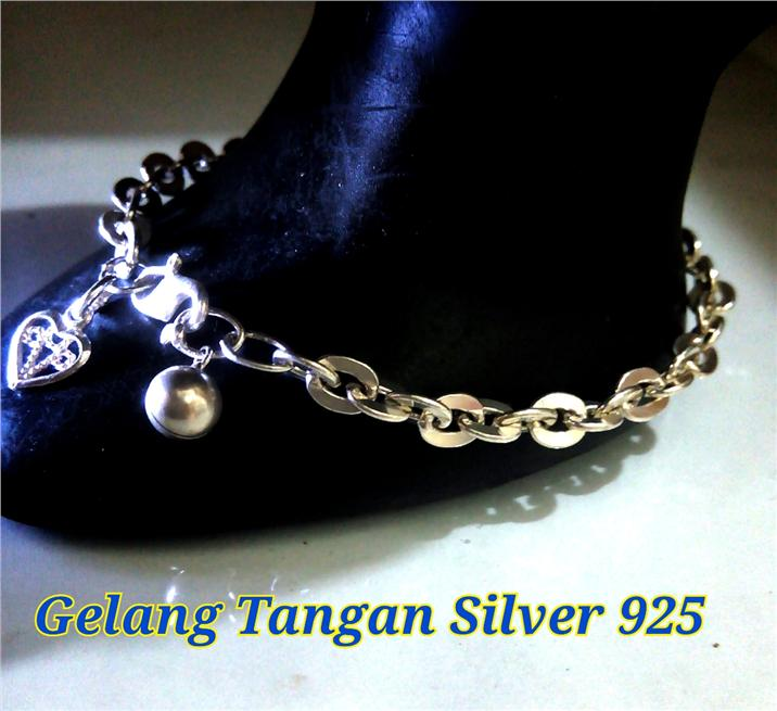Gelang Tangan Silver 925#10-middle size egg