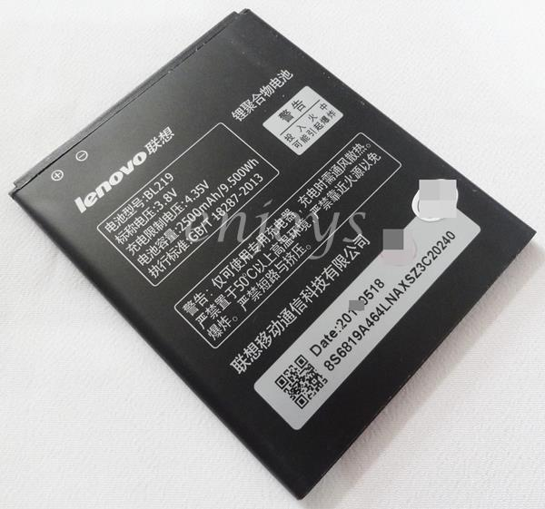 Genuine Battery BL219 Lenovo A880 A889 A850+ Plus A916 S856 ~2500mAh