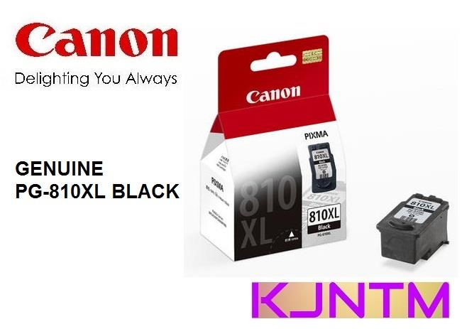 GENUINE CANON PG-810XL BLACK INK CARTRIDGE
