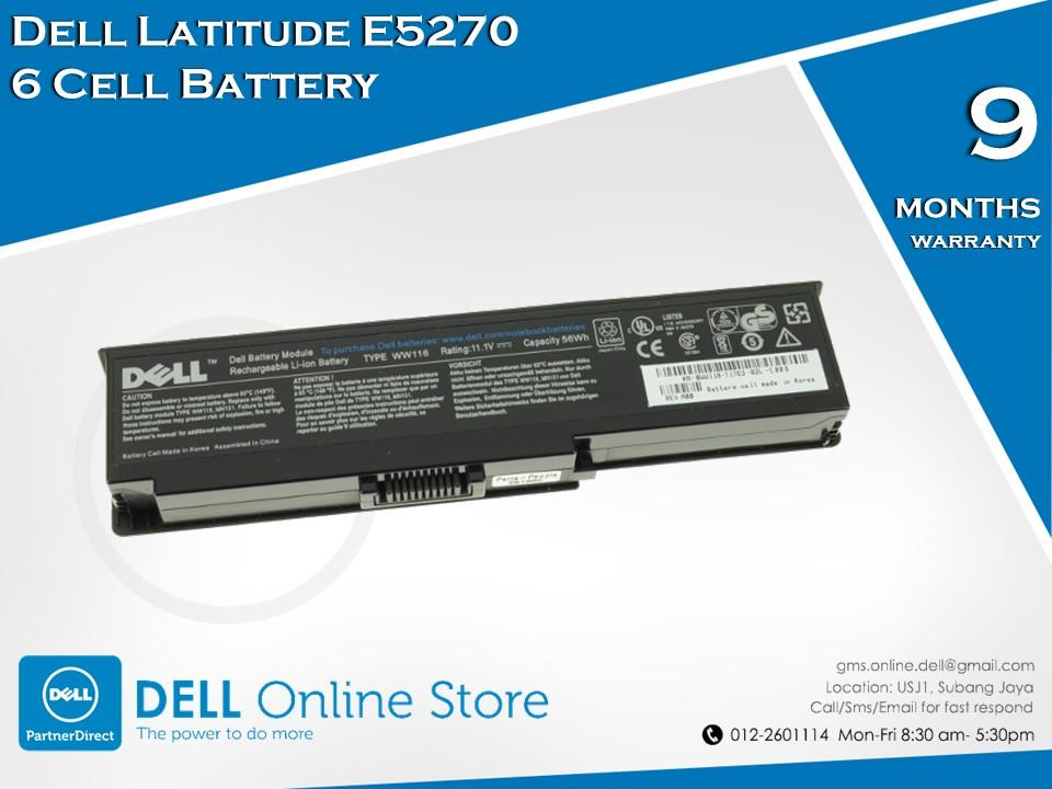 Genuine Dell Latitude E5270 6 Cell Battery