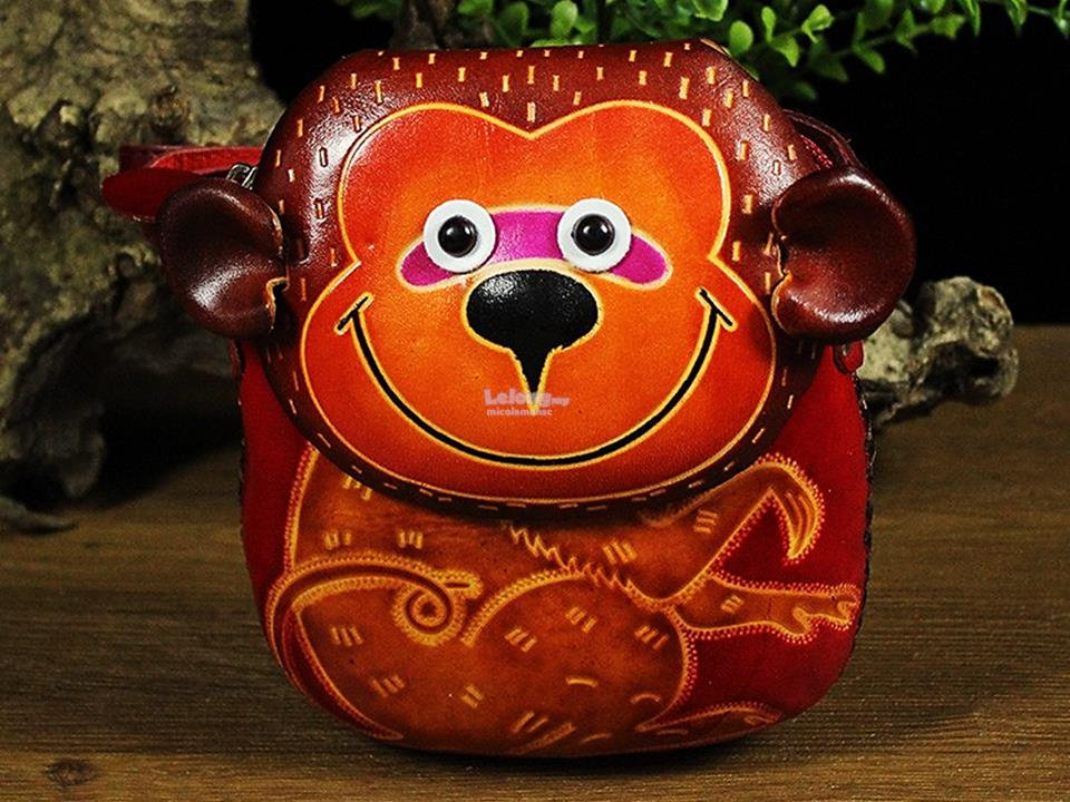 GENUINE Handmade Leather MONKEY Handbags Wallet Purse Shoulder Bags