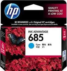 GENUINE HP 685 CYAN INK CARTRIDGE ( CZ122AA ) **NEW**SEALED BOX
