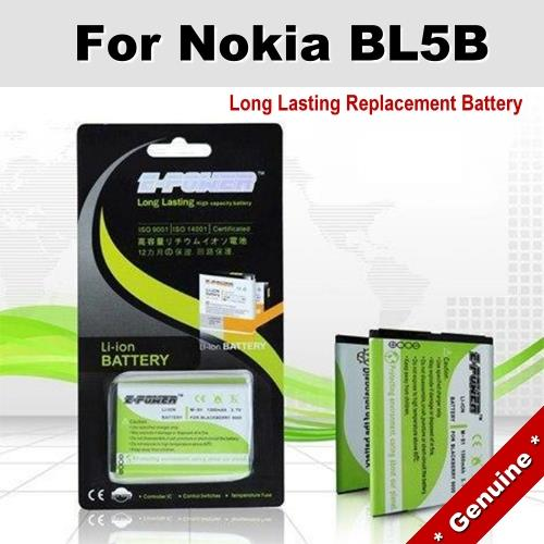 Genuine Long Lasting Battery Nokia 6060 5200 6080 BL5B BL-5B Battery