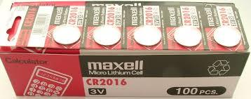 GENUINE MAXELL CR2016 LITHIUM BATTERY JAPAN 2PCS