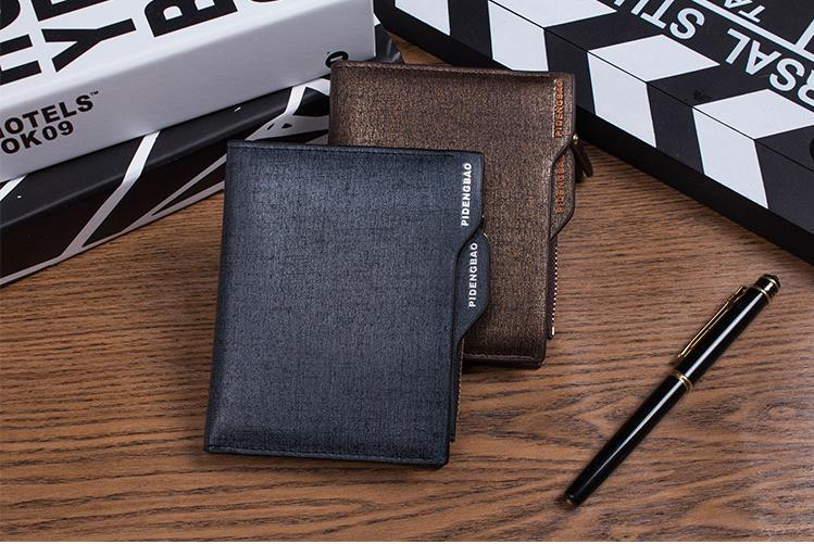 Genuine Pidengbao Wallets Sands Zip coin pocket wallet card