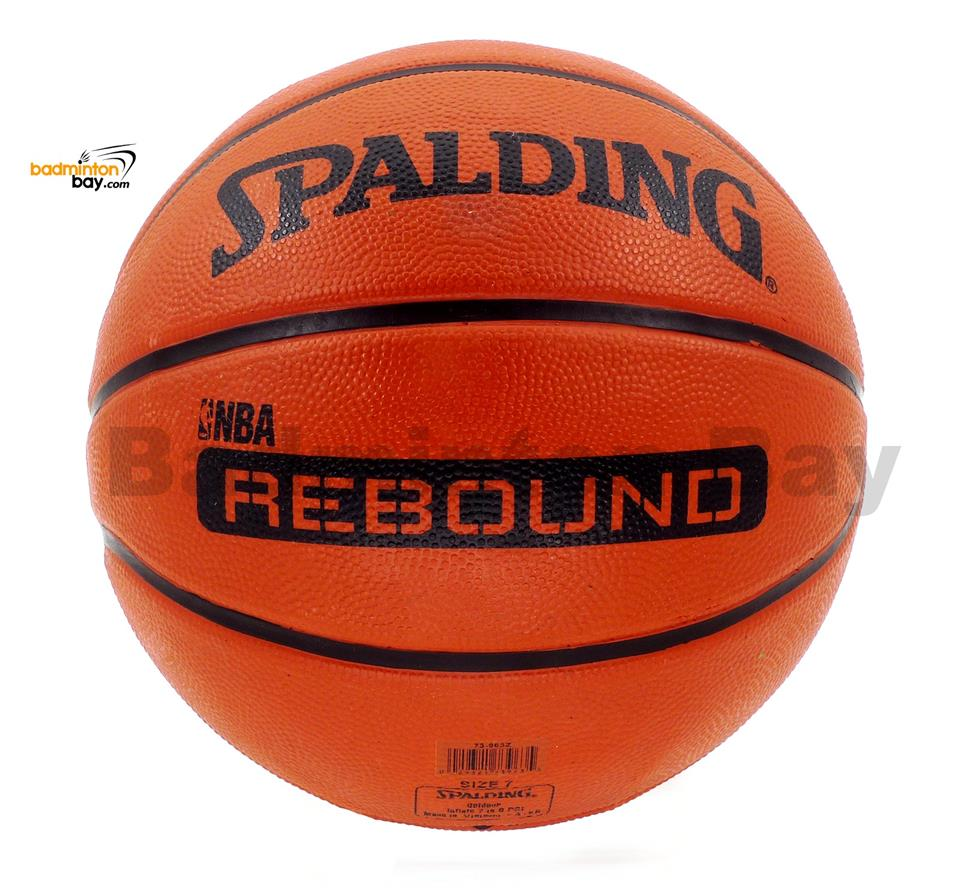 Genuine Spalding Rebound NBA Endorsed Outdoor Rubber Basketball Size 7