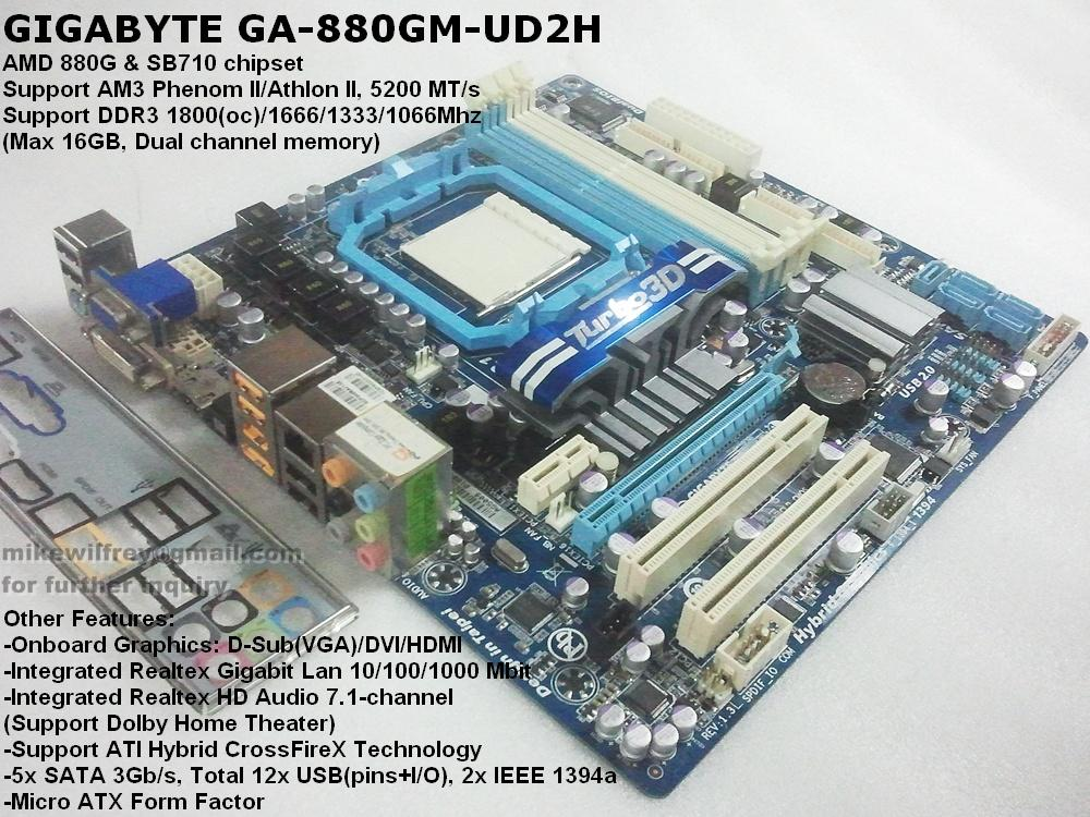 GIGABYTE AMD socket AM3 Motherboard | DDR3 16gb,HDMI, DVI,SATA 3Gb/s
