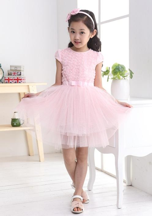 Girls Pink Roses Dress
