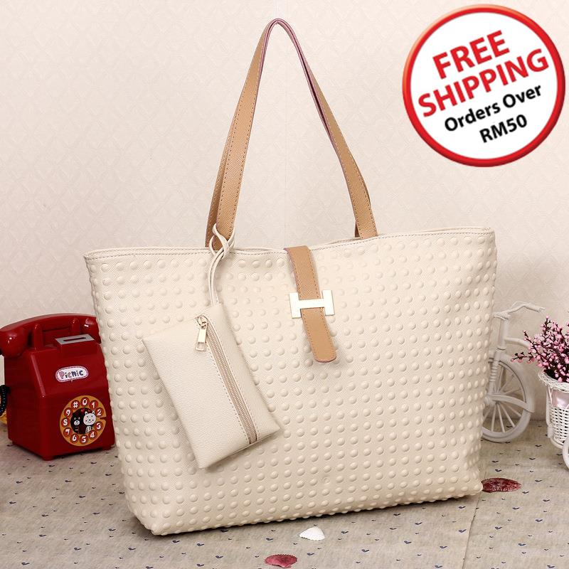 Glamour PU Leather Single Shoulder Bag 15486 (Light Yellow)