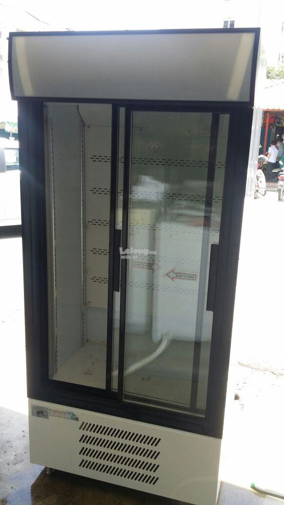 Glass Door Chiller Disply Fridge Mini Market Peti Sejuk Air Minuman