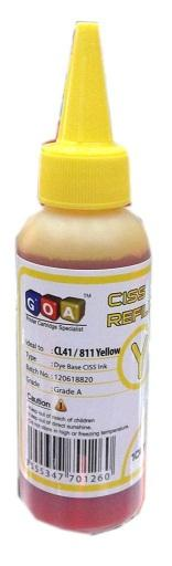 GOA UNIVERSAL CISS INK REFILL 100ML BOTTLE YELLOW