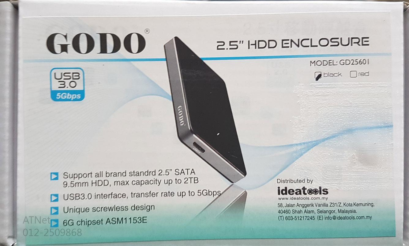 GODO USB3.0 2.5' HDD ENCLOSURE GD25601