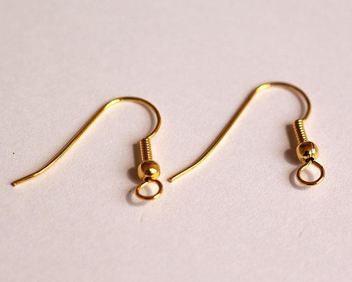 gold plated french ear hook