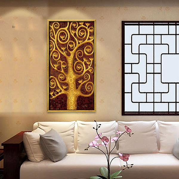 New Gold Series Painting 40*80cm With DIY Frame