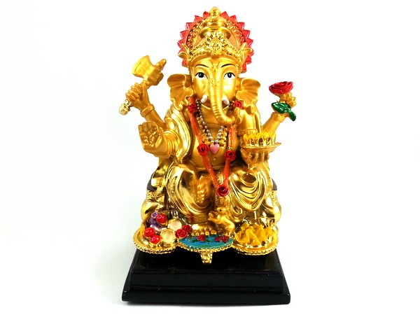 Golden Lord Ganesha - Hindu Elephant-Headed God