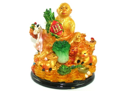 Good Fortune Monkey with Horoscope Friends - Chinese New Year 2016